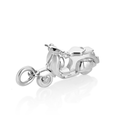 Silver Scooter Charm
