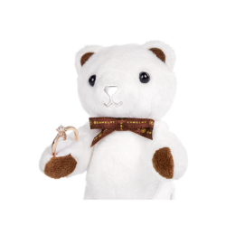 Mini Classic Beawelry Bear with a Ring Holder
