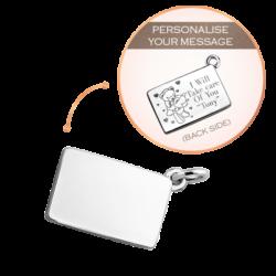 Silver Medium Personalise Envelope Charm